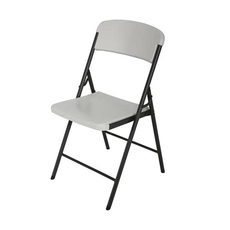 lifetime almond folding chair 80587 the home depot