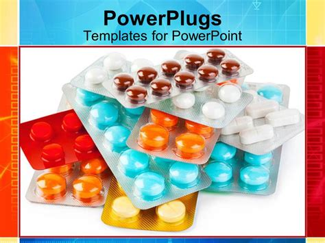 Powerpoint Template Variation Of Pills In Color And Shape 23508 Pills Powerpoint Template