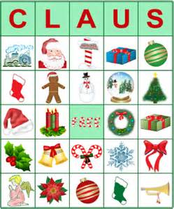 Get printable bingo cards for christmas