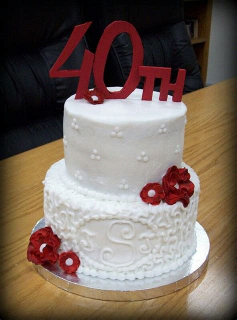 40th anniversary color best 25 40th anniversary cakes ideas on diy
