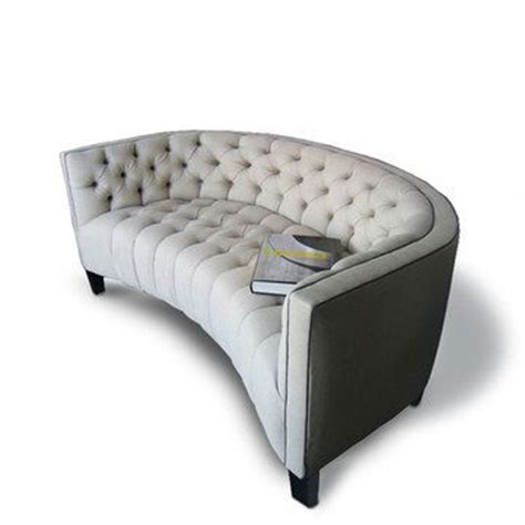 Curved Tufted Sofa Impressive Curved Tufted Sofa 3 Curved Sofas And Loveseats Smalltowndjs