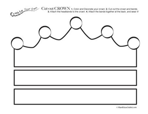 mr printable crown printable crown template party ideas by mardi gras