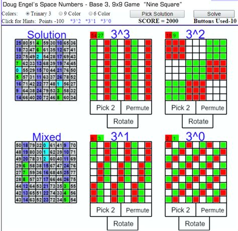 pattern numbers games esn9x9