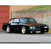 Car Photo Modified Black 1984 Chevrolet Monte Carlo Cragar 612 Series