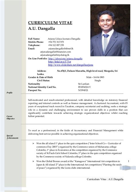 Example Great Resume by Copy Of Cv