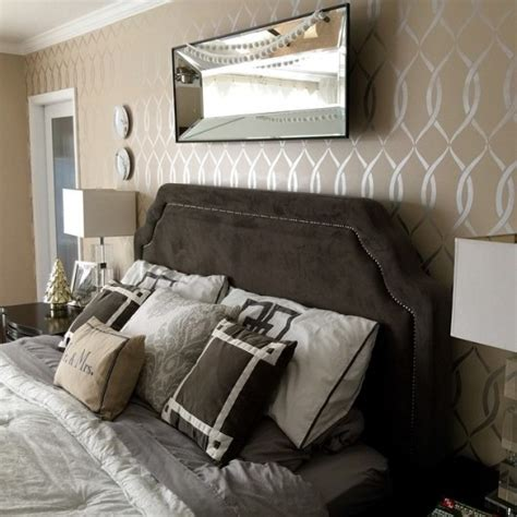wall stencils for rooms refresh your master bedroom with a stencil
