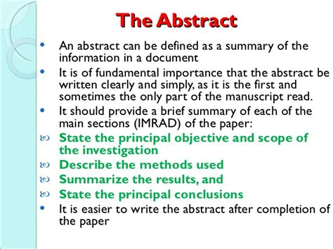 How To Make Paper Presentation Abstract - how do you write a research paper abstract write