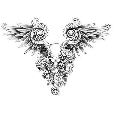 tattoo ali fondoschiena tatouage cr 226 ne avec ailes et roses tatoo pinterest