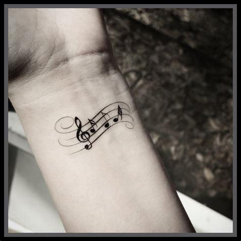 sheet music tattoo m 250 sica nota tatuaje tatuajes temporales tatuajes de m 250 sica