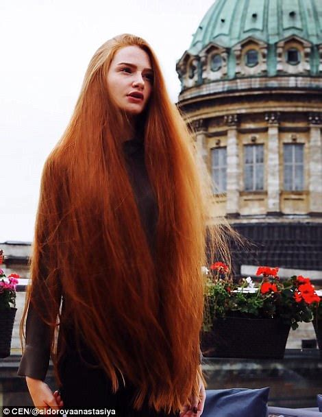 older actress with long red hair russian woman who suffered from alopecia now has long hair