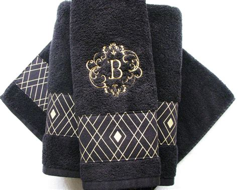 black and white bathroom towels black gold towels custom towels black bathroom black