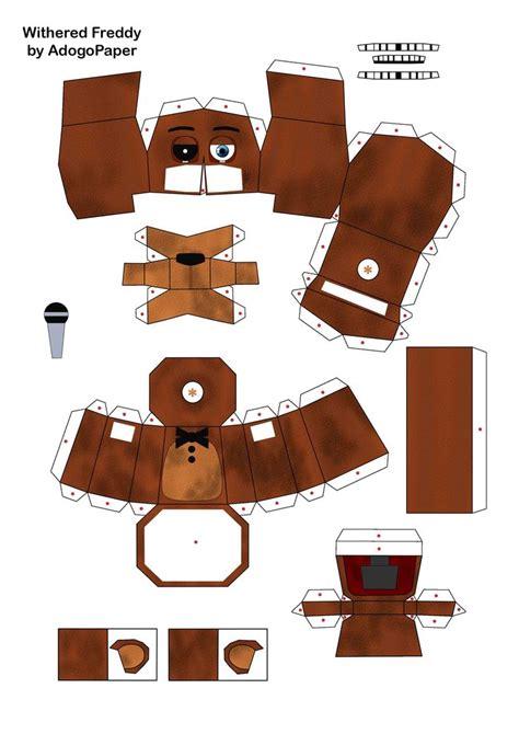 Nicky P Papercrafts - fnaf 2 freddy papercraft pt1 by adogopaper deviantart