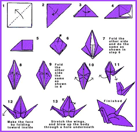 Easy Crane Origami - a moon worn as if it had been a shell a thousand paper