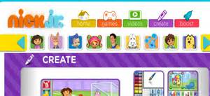 nick jr creativity center kids websites
