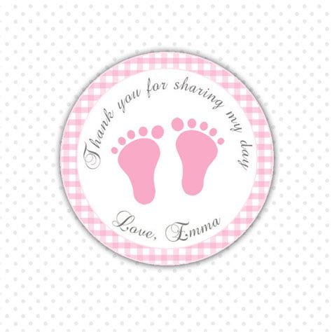 Printable Thank You Tags For Baby Shower Favors by Pink Gingham Thank You Tags Baby Custom Baby By