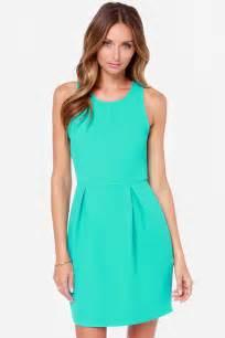 pretty turquoise dress sheath dress zipper dress 47 00