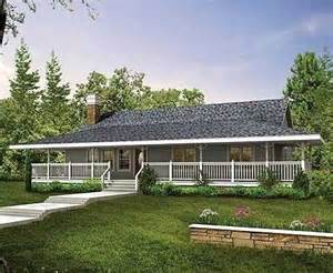 One Story House Plans With Wrap Around Porches by Ranch Style House Plans With Porch Cottage House Plans