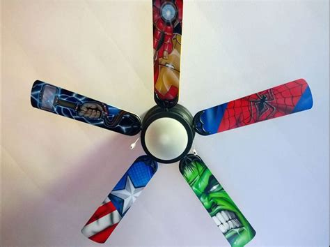 boys ceiling fans now that s what you call a true marvel fan fandoms