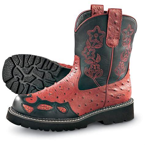 womens roper shoes s roper 174 ostrich print boots 133947 cowboy