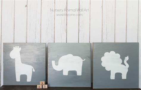 Nursery Animal Wall Art Lolly Jane Diy Nursery Wall Decor