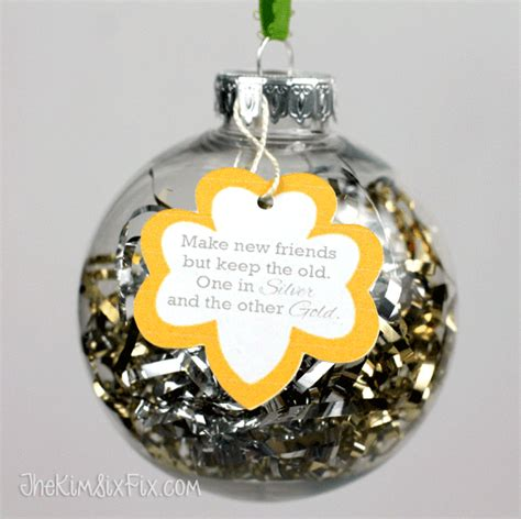 girl scout holiday ornaments craft make new friends scout ornament png