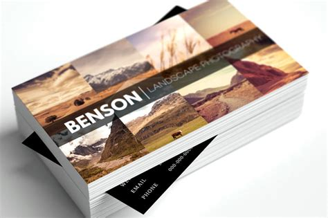 card templates for photography 13 free business card templates for photographers