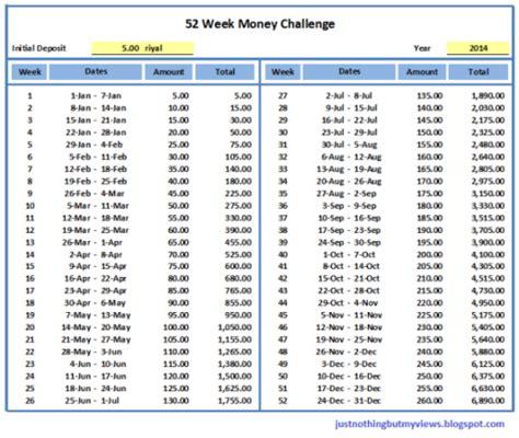 Gallery For Gt 52 Week Money Challenge Excel Template 52 Week Money Challenge Excel Template