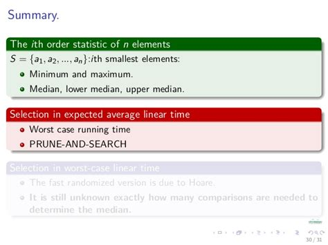 Average Running Time Of Linear Search Algorithm 07 Analysis Of Algorithms Order Statistics