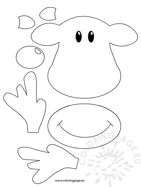 rudolph the nosed reindeer template free coloring pages of reindeer template