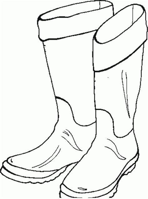 Boots Pictures Coloring Home And Boots Coloring Pages