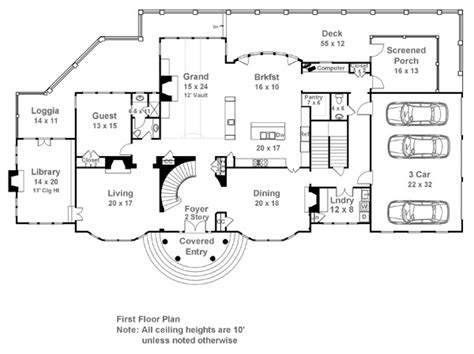 Estate Home Plans by Carmichael Estate 7932 5 Bedrooms And 5 Baths The
