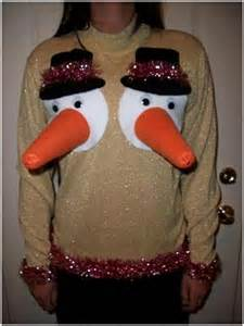 Snowglobe rudolph nose knitted christmas sweater morph costumes us