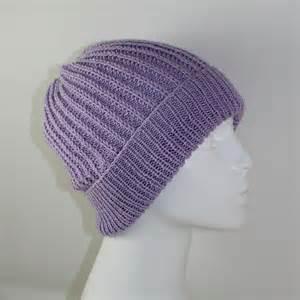 Ply fishermans rib unisex beanie hat knitting pattern by