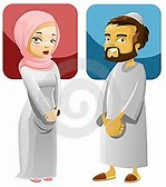 Muslim Couple Cartoon