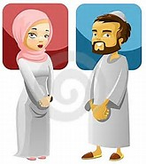 Cartoon Muslim Marriage