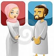 Cartoon Muslim Marriage