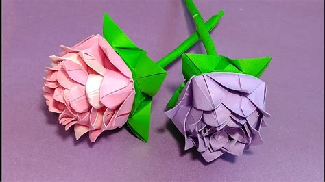 Simple Origami Lotus Flower - easy origami it consists of 6 modules simple