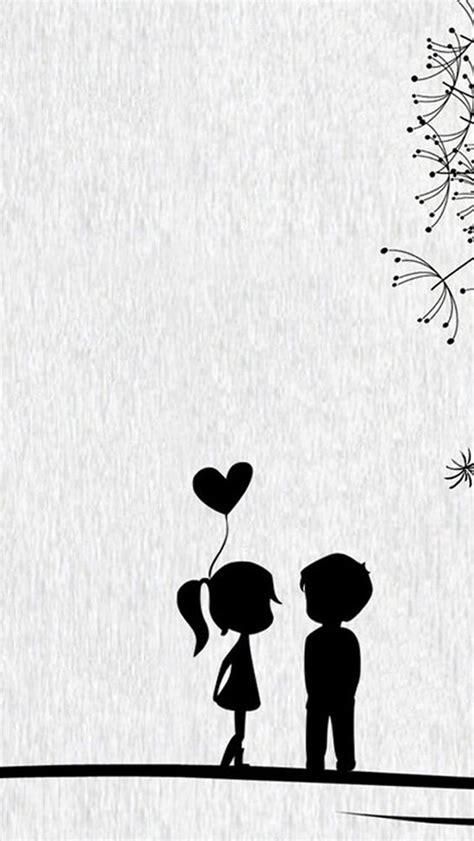 couple wallpaper for iphone 5 love cute cartoon little couple iphone 5s wallpaper