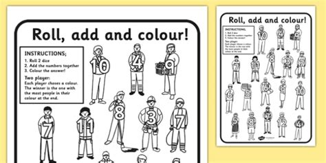 people    roll  colour worksheets colouring