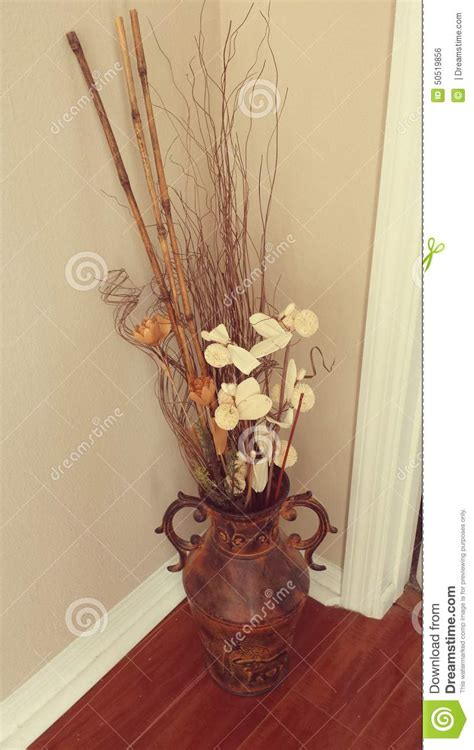 floral decor in an urn stock photo image 50519856