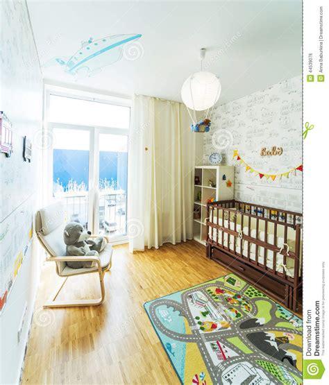 babys bed baby s bedroom stock photo image 44539076