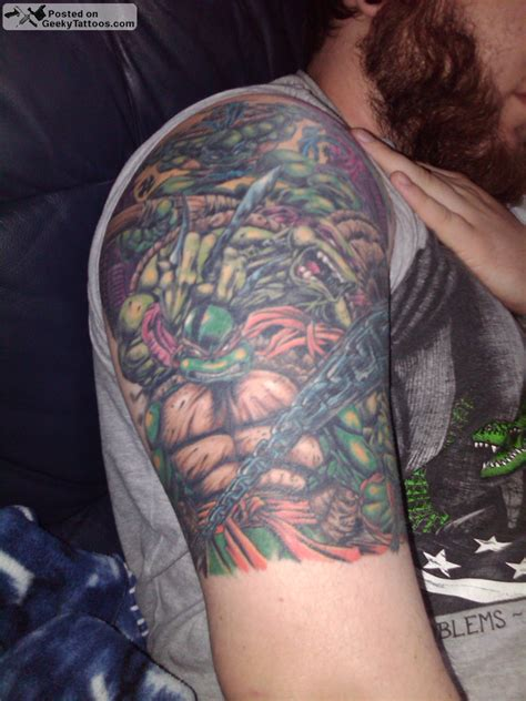 tmnt tattoos geeky tattoos part 44