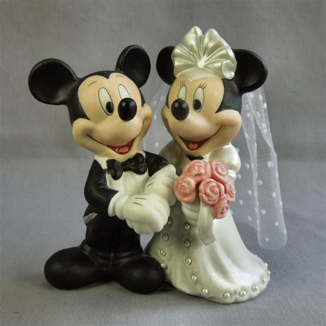 Topper Cake Minnie Mouse disney mickey minnie mouse cake topper figurine bisque porcelain ebay