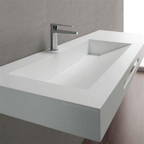 lavabo in corian lavabo dise 241 o mural apoyar corian negro tu cocina y ba 241 o