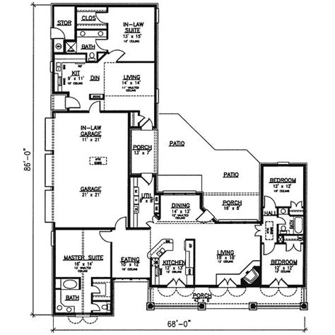 home plans with in law suite house plan 320 139 with in law suites home ideas pinterest