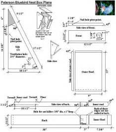 bluebird house plans free peterson bluebird bird house plans diy birdhouses