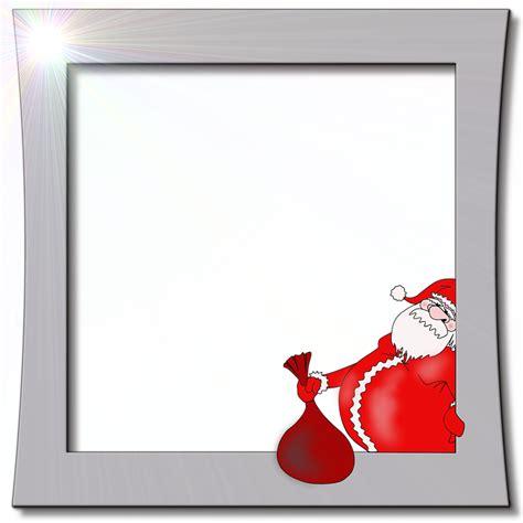 cornice di natale per foto illustrazione gratis babbo natale cornice per foto
