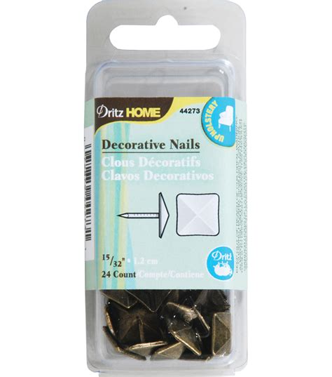 Dritz Home Decorative Nails Decorative Nails Square Gold 15 32 24ct Jo