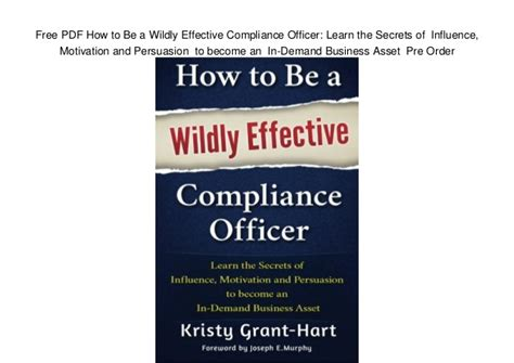 how to become a compliance officer at a bank free pdf how to be a wildly effective compliance officer