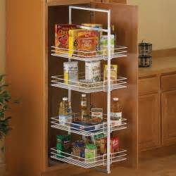 center mount pantry pull out system white organization